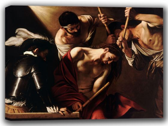 Caravaggio, Michelangelo Merisi da: The Crowning with Thorns. Fine Art Canvas. Sizes: A4/A3/A2/A1 (002063)